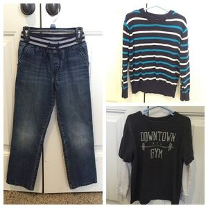 Boys size 7 Jeans, Tops Bundle GAP, Gymboree