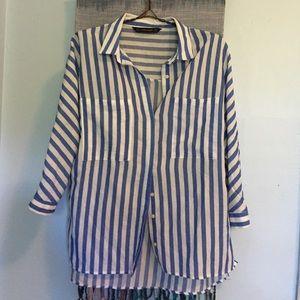 Zara striped button-down