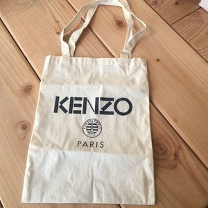 This is a small Kenzo canvas bag