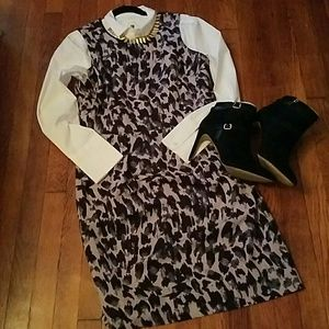 The Loft Leopard inspired sheath dress.