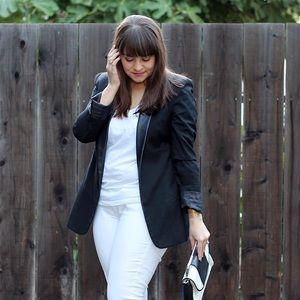 BB Dakota Jackets & Blazers - BB Dakota Ellis Blazer with Leather Collar