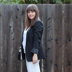 BB Dakota Ellis Blazer with Leather Collar