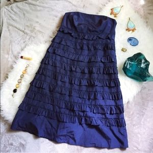 Gap navy strapless dress