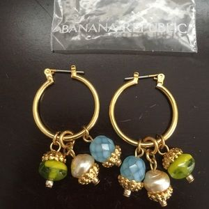 Banana Republic hoop earrings with charms