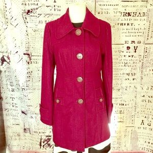 Tulle Vintage Wine/Purple Trench Coat