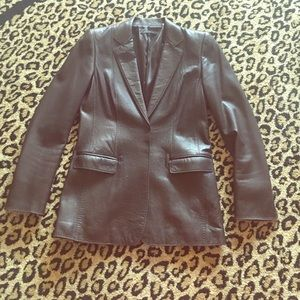 Elie Tahari Jackets & Blazers - Butter Soft Elie Tahari Leather Blazer!