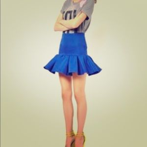 Peplum royal blue skirt