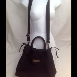 Sonia Rykiel Handbags - Sonia Rykiel Paris Black Nylon Satchel Handbag