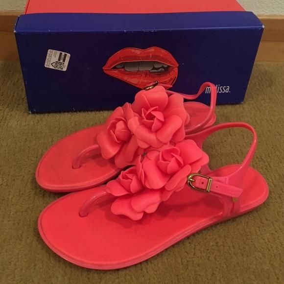7f43d912d5d Melissa Solar Garden Sandals in Neon Pink. M 580692b413302abb00002c15