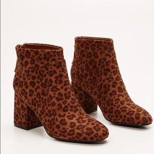 LOFT Shoes - LOFT LEOPARD PRINT ANKLE BOOTS
