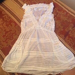 White DKNY shirt