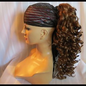 Accessories - High Quality Auburn .XL Curly Clip On Pony Tail