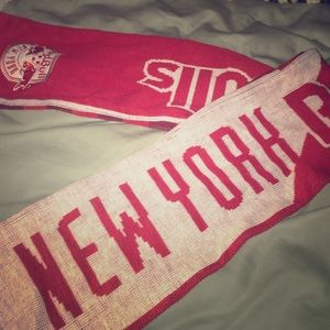 Uncommon Other - New York Red Bulls red and white soccer scarf