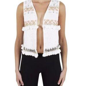 Mes Demoiselles Jackets & Blazers - MES DEMOISELLES PARIS Jacket Embellished Aza Vest