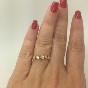 Jewelry - Dainty stackable rose gold ring with diamonds.