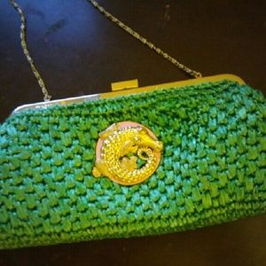 Lilly Pulitzer Straw Clutch