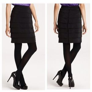 Tory Burch Florence Silk Tiered Skirt