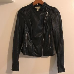 Zara Jackets & Blazers - Zara faux leather moto biker jacket