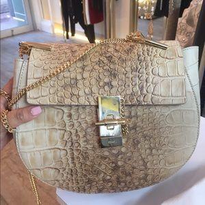 Chloe Handbags - Small Chloe croc, croco stamp drew bag