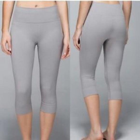 7d3689680b9cfa lululemon athletica Pants - LULULEMON Seamlessly Street Crop 4 Ebb & Flow  Sexy