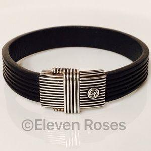 David Yurman Other - David Yurman Royal Cord Black Leather ID Bracelet