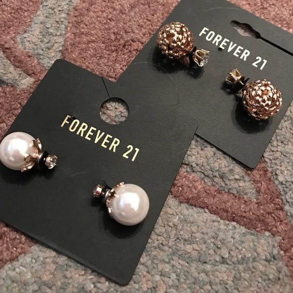 47 off forever 21 jewelry earrings pearl studs gold for Forever 21 jewelry earrings