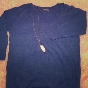 Rubbish Sweaters - Blue Scoop Neck Sweater