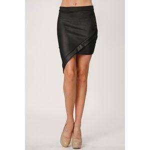 Hannah Beury Dresses & Skirts - LAST ONE!! Vegan Leather Asymmetrical Skirt