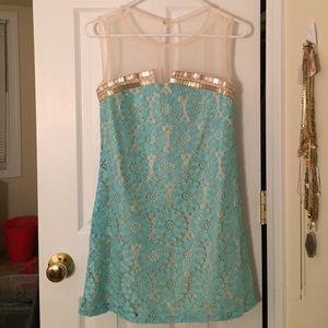 Little Mistress Dresses & Skirts - Little Mistress Embellished Shift Dress