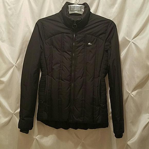 c342700236ca Black Lacoste puffer coat