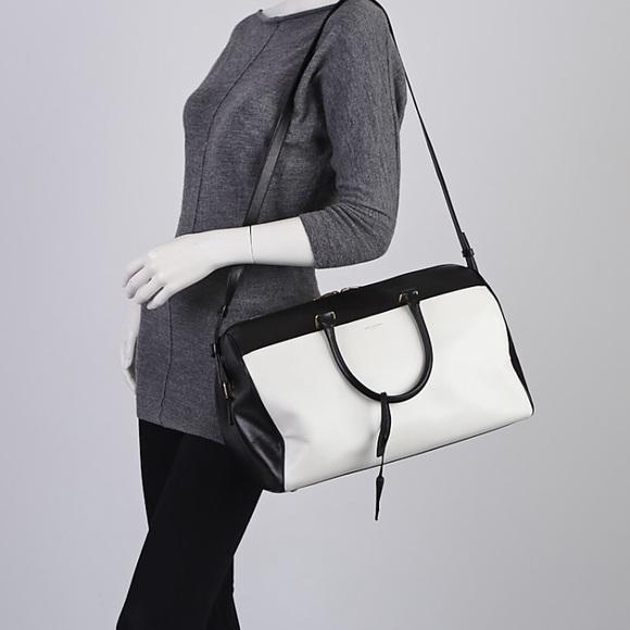 YSL Bicolor Calfskin Leather Duffle 12 Bag 63a07329db595