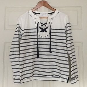 Promod Laced Up Long-sleeve Top
