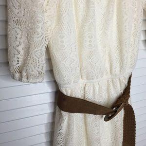 delia's Dresses - Delia's Crochet Lace Peasant Dress
