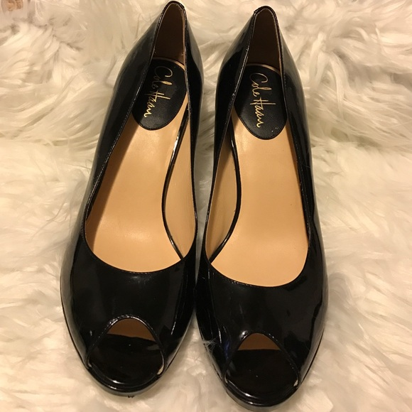 5c944238ee Cole Haan Shoes | Nike Air Peeptoe Patent Leather Pumps | Poshmark
