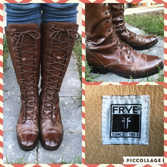 5067b32a037 FRYE Melissa Tall Lace Up Boot