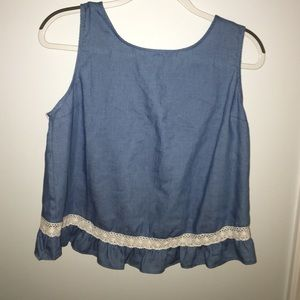 NWT Altar'd State open back denim tank top
