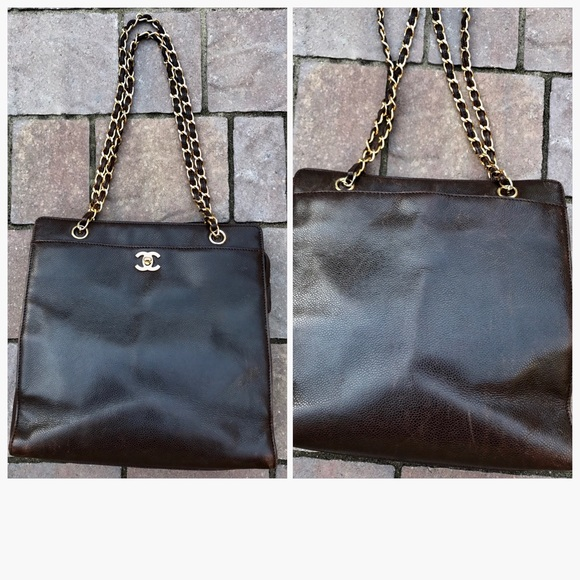 9207663225b5 CHANEL Bags | Hp Auth Vintage Brown Tote Bag | Poshmark
