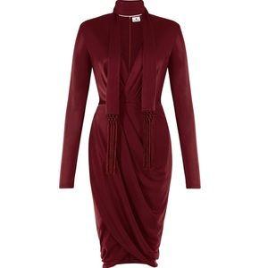 Burgundy Altuzzara Wrap Dress