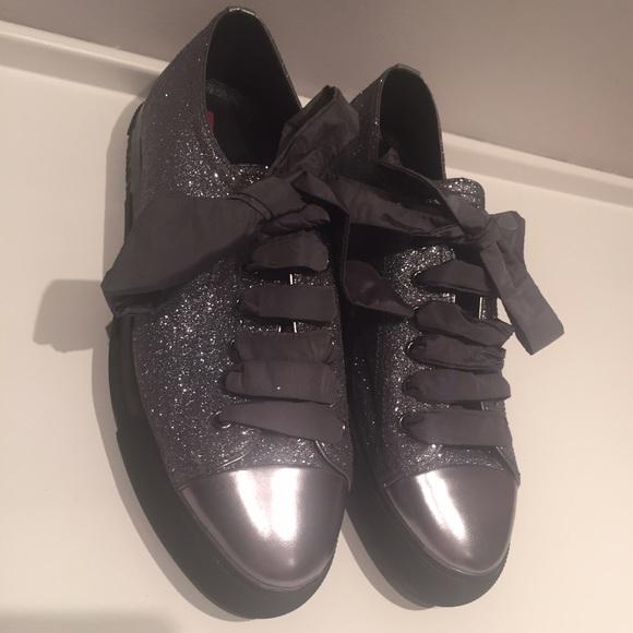 Prada Shoes | Prada Glitter Sneakers