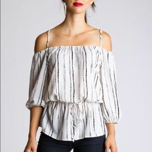 Off The Shoulder Long Sleeves Top