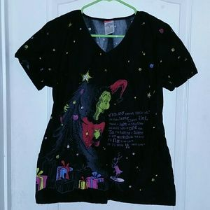 9e38cf62b20 Dr. Suess Tops | How The Grinch Stole Christmas Scrub Top M | Poshmark
