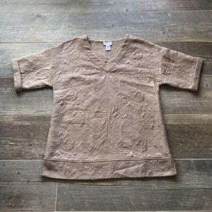 Soft Surroundings Tan Sweater Top Size XS