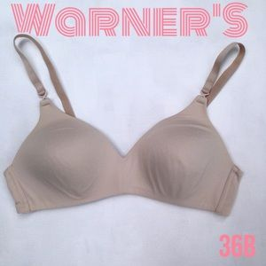 WARNERS Nude Beige Wireless Comfort Bra, 36B