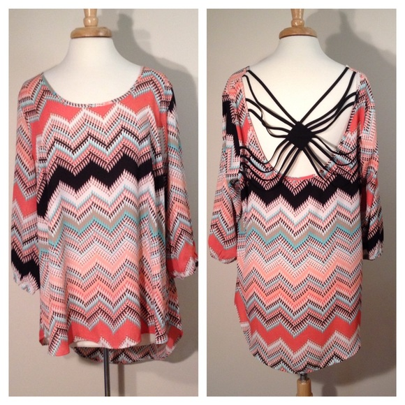 Maurices Tops - Maurice's Plus Size 1X Trendy Back Top