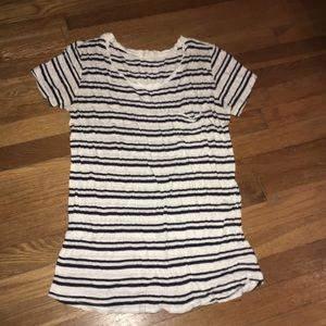 Forever 21 - black and white stripe pocket tee