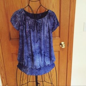 Shannon Ford New York Blue Embellished Top