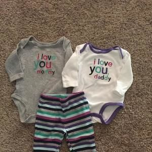I love mommy daddy outfit set