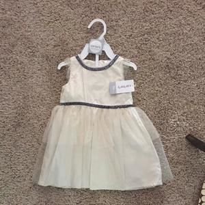 Carter's ivory and navy dress!