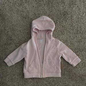 Dusty rose/pink zip hoodie