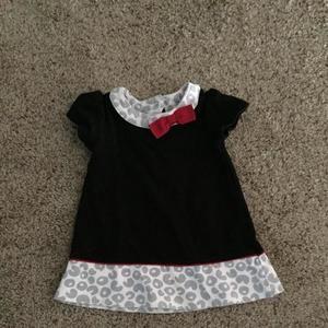 Black and animal print cotton dress